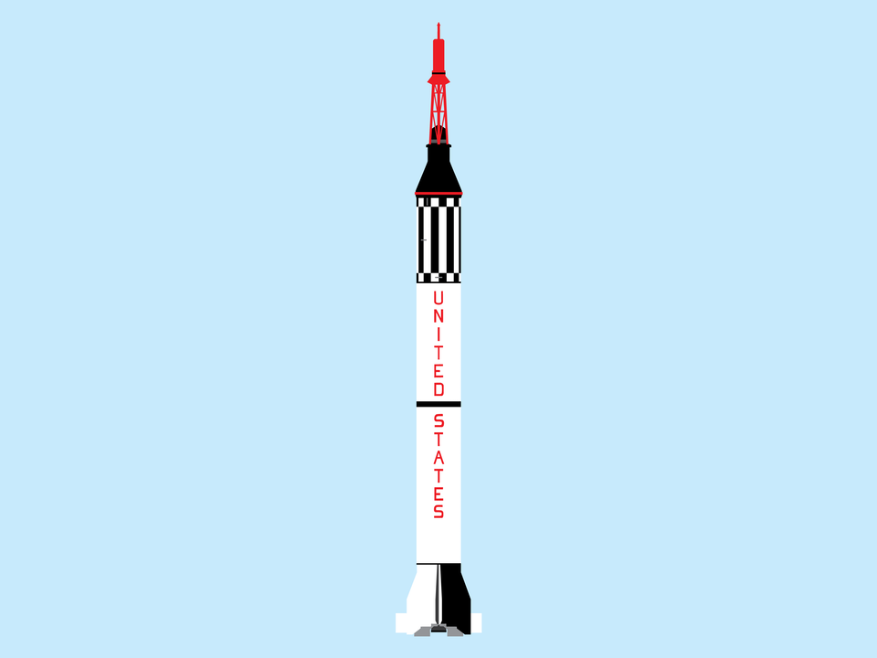 Adventures in Space - Mercury Redstone rocket
