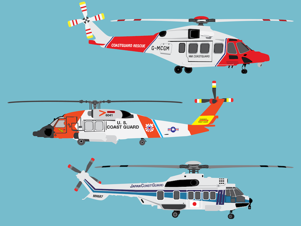 Emergency Vehicles - Rescue helicopters