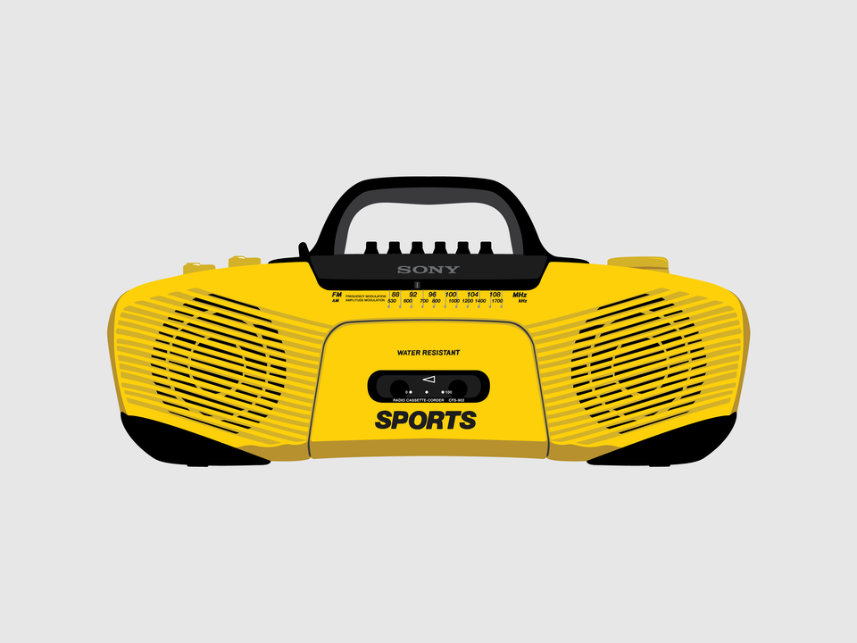Gizmo - Sony CFS-902 boombox