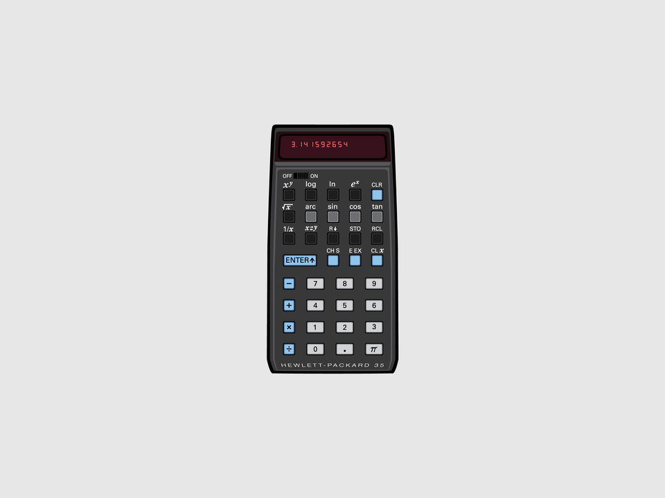 Gizmo - Hewlett-Packard HP-35 calculator
