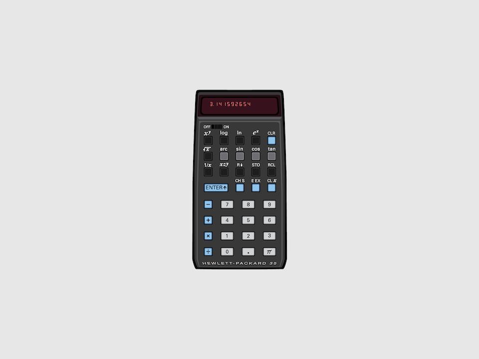 Gizmo - Hewlett-Packard HP-35 calculator