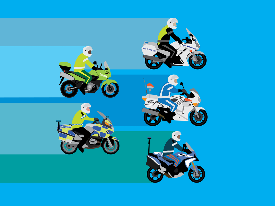 Emergency Vehicles - Police motorcycles