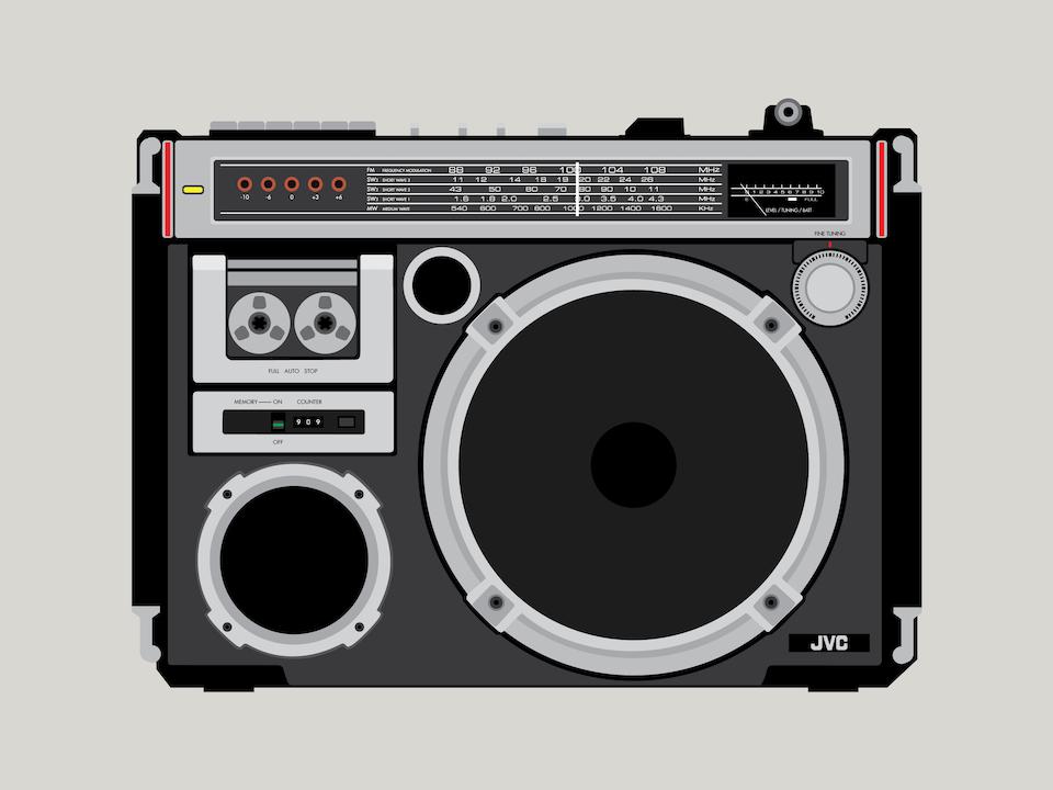 """Gizmo - JVC RC-550 """"El Diablo"""" boombox"""