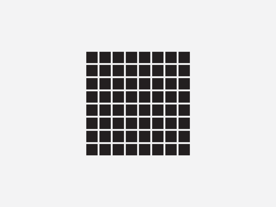 """Science - The Hermann Grid an optical illusion characterized by """"ghostlike"""" grey blobs perceived at the intersections of a white (or light-colored) grid on a black background. The grey blobs disappear when looking directly at an intersection."""