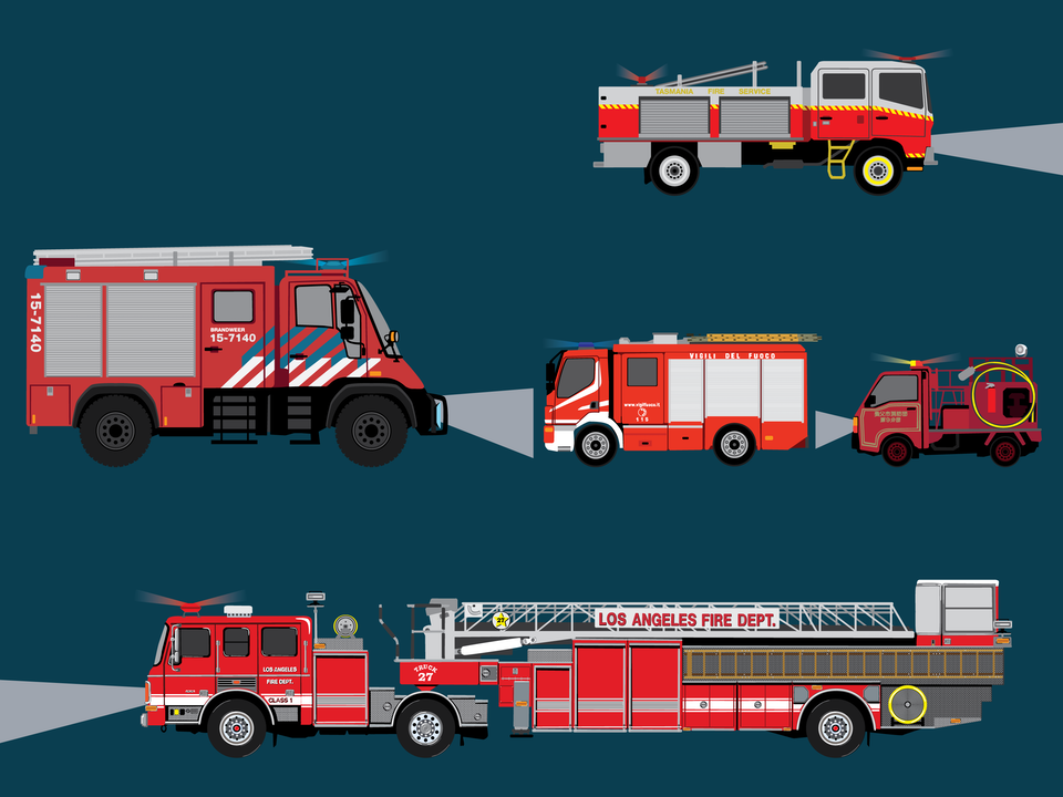 Emergency Vehicles - Fire engines