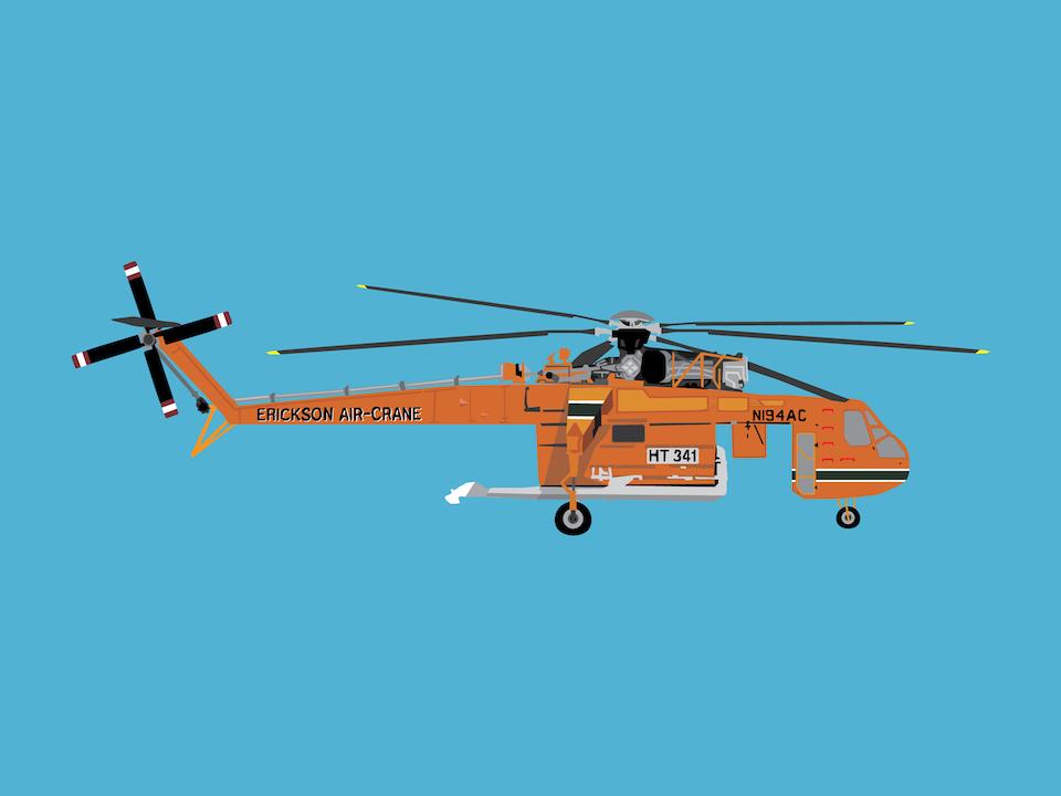 Emergency Vehicles - Erickson air crane