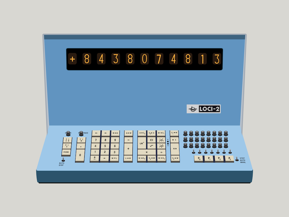 Gizmo - Wang Loci 2 electronic calculator