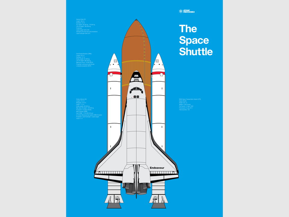 Atomic Printworks - Space Shuttle