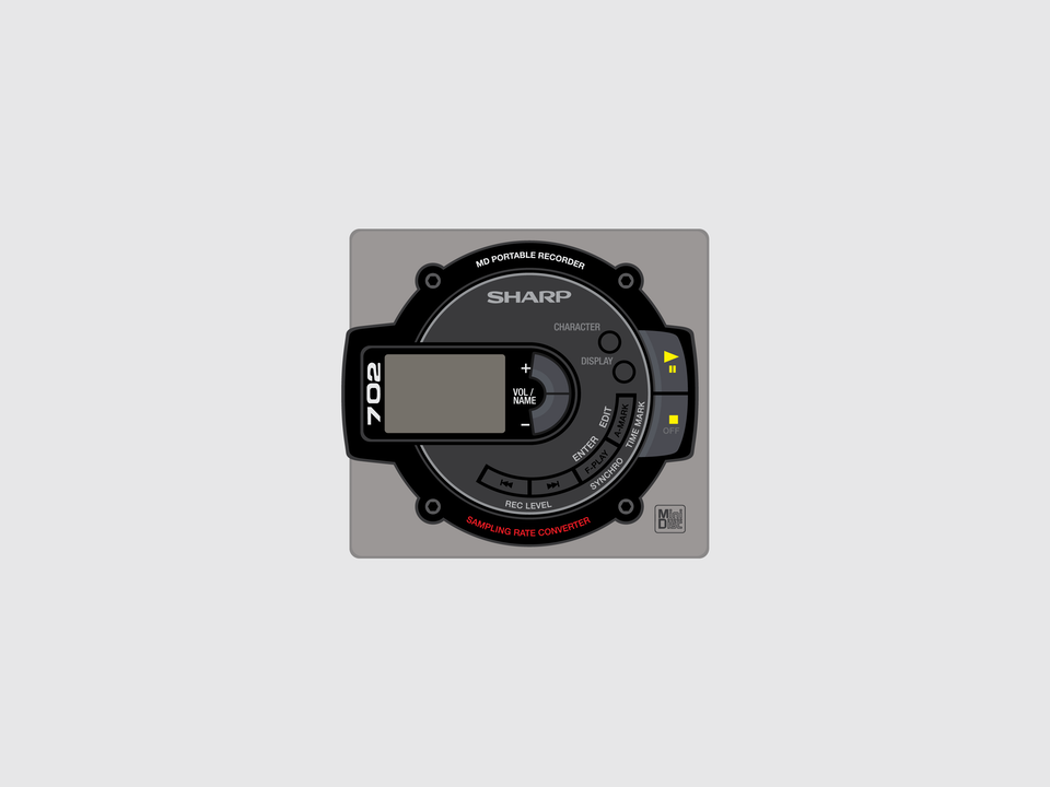 Gizmo - Sharp MD702 MiniDisc player
