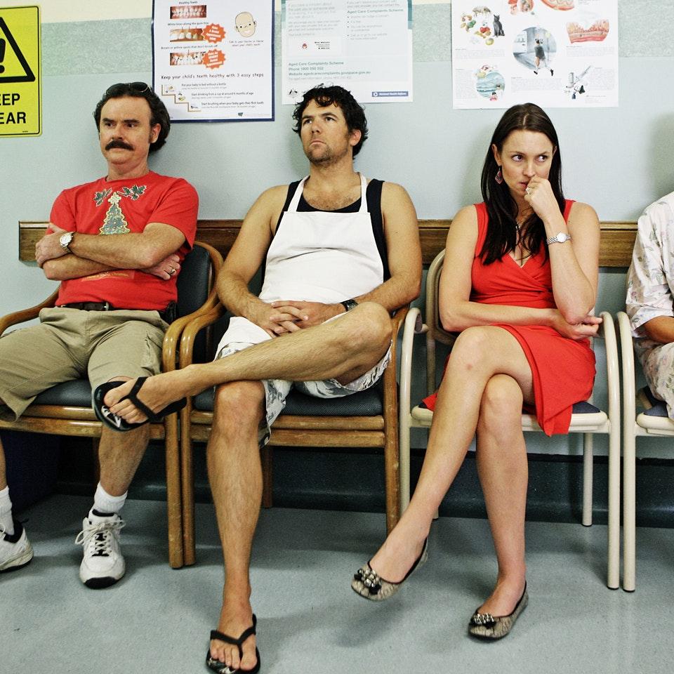 The Moodys This Christmas 456_Ep3_Terry (Darren Gilshenan)_Sean (Patrick Brammall)_Bridget (Rachel Gordon)_Maree (Tina Bursill)_Pic.Prudence Upton