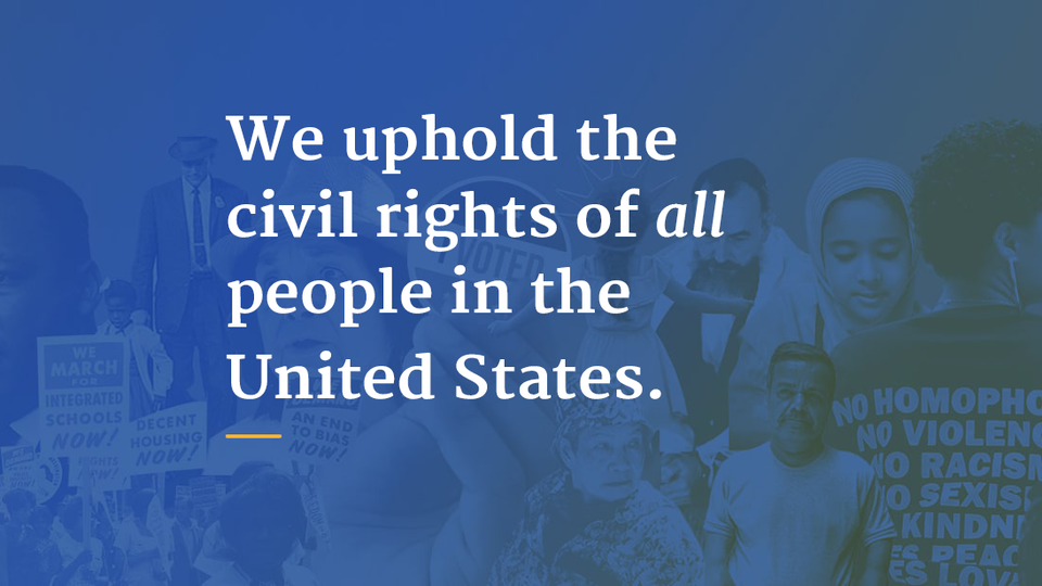 UX   ER - DOJ Civil Rights Portal: Ensuring the sanctity of civil rights for all people in the United States.