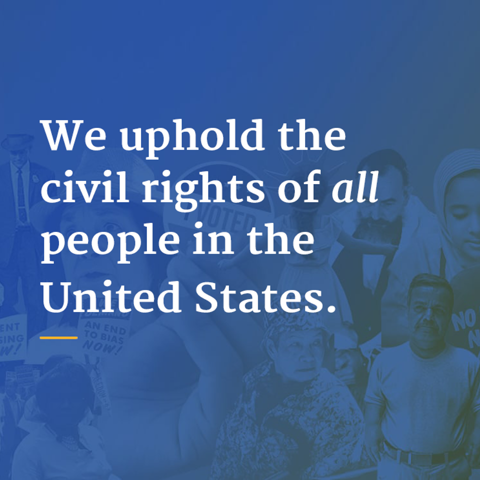 UX | ER - DOJ Civil Rights Portal: Ensuring the sanctity of civil rights for all people in the United States.