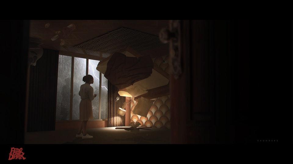 Fear The Dark - Bedroom Interior Concept -