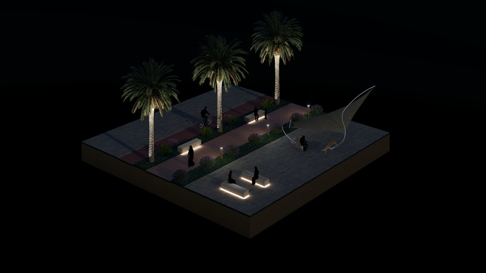 Isometric Diagrams - Middle East Night - The following isometric diagrams were created to convey interior and exterior architecture with a clear sense of scale and distance.