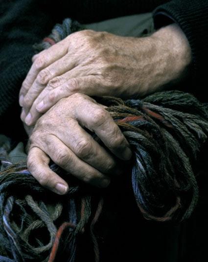 Iain's hands -