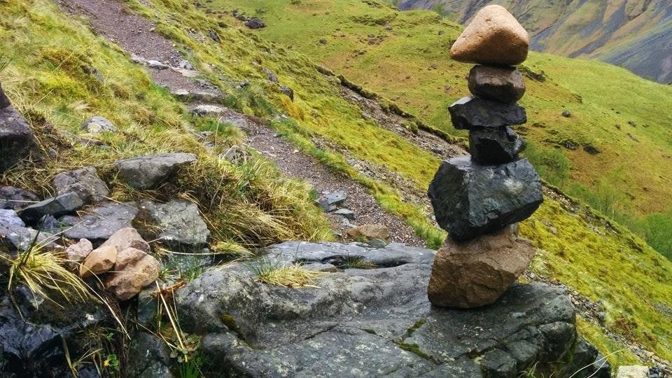 Stone balancing - Stone balancing by Sandor Nagy. 2016 Glencoe, Scotland. All rights reserved.