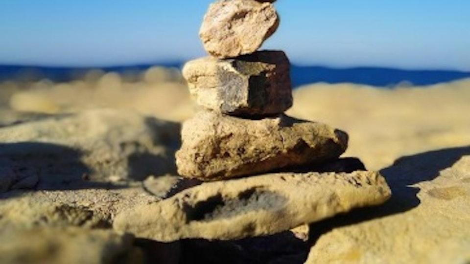 Stone balancing - Stone balancing by Sandor Nagy. 2017 Bugibba, Malta. All rights reserved.