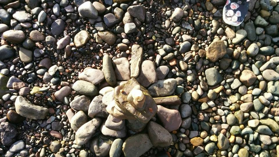 Stone balancing - Stone balancing by Sandor Nagy. 2016 Largs, Scotland. All rights reserved.