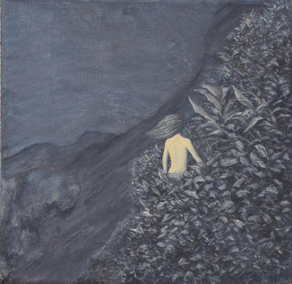 Creek or Sea Ground or Sky Descent or Climb - acyilic on canvas - cm. 20x20 - 2015