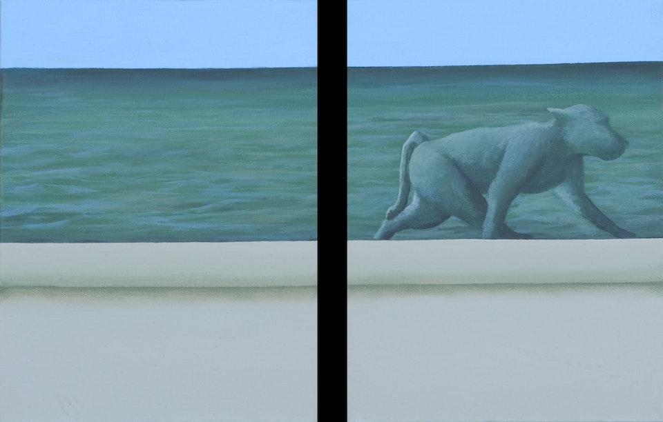 Border - Green light - diptych -  acrylic on canvas -  each cm. 18x24 - 2011