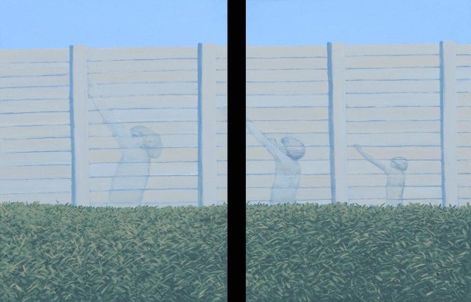 Border - Perpetual hunt - diptych -  acrylic on canvas -  each cm. 18x24 - 2011