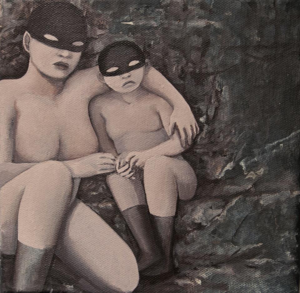 20x20_Party - acrylic on canvas - cm 20x20 - 2013