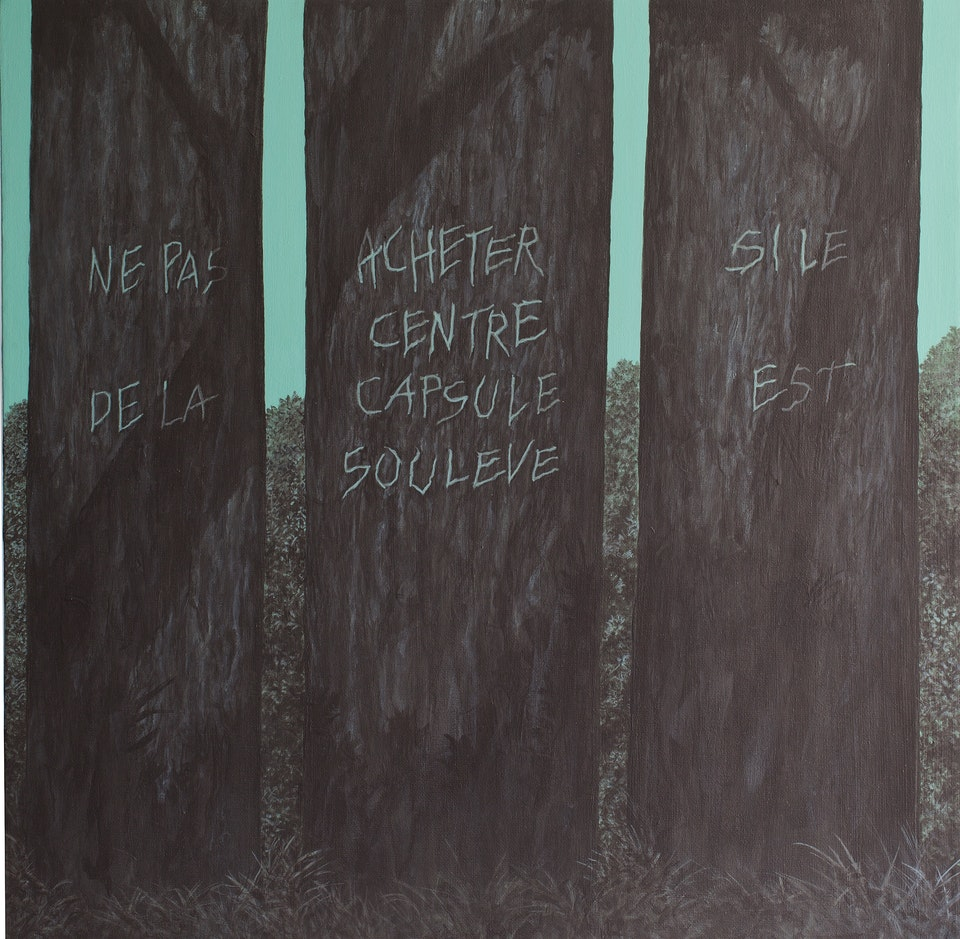 Ne pas acheter si le centre de la capsule est souleve - acrylic on canvas - cm. 50x50 - 2013