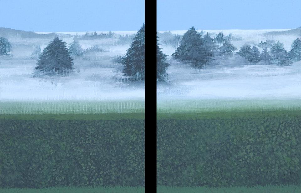 Border - Betrayal - diptych - acrylic on canvas - each cm. 18x24 - 2011