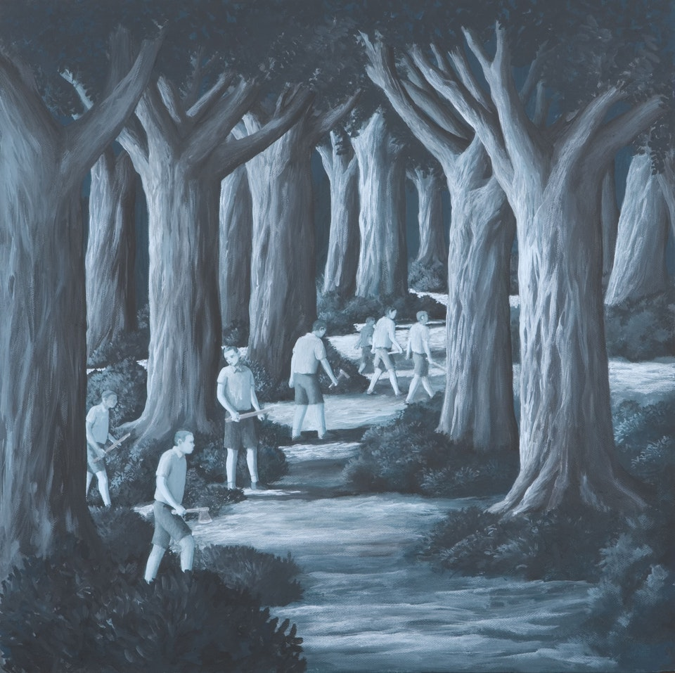 50x50_Punitive expedition - acrylic on canvas - cm. 50x50 - 2010