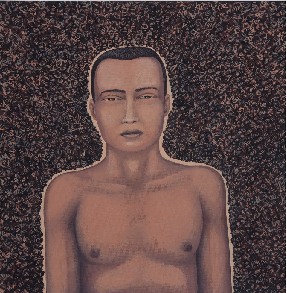 z Awakening in the constant city - acrylic on canvas - cm.  30x30 - 2011