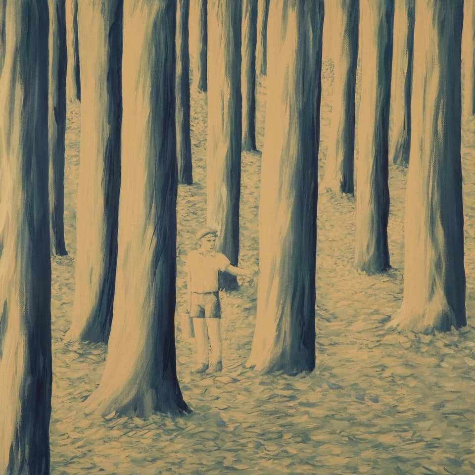 Memoirs of an agronomist - In the logical forest - acrylic on canvas - cm. 50x50 - 2010