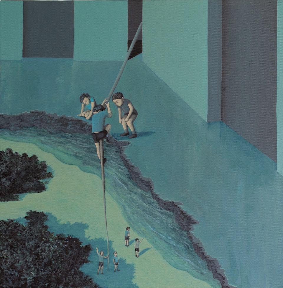 40x40_Fourth dimension - acrylic on canvas - cm. 40x40 - 2013