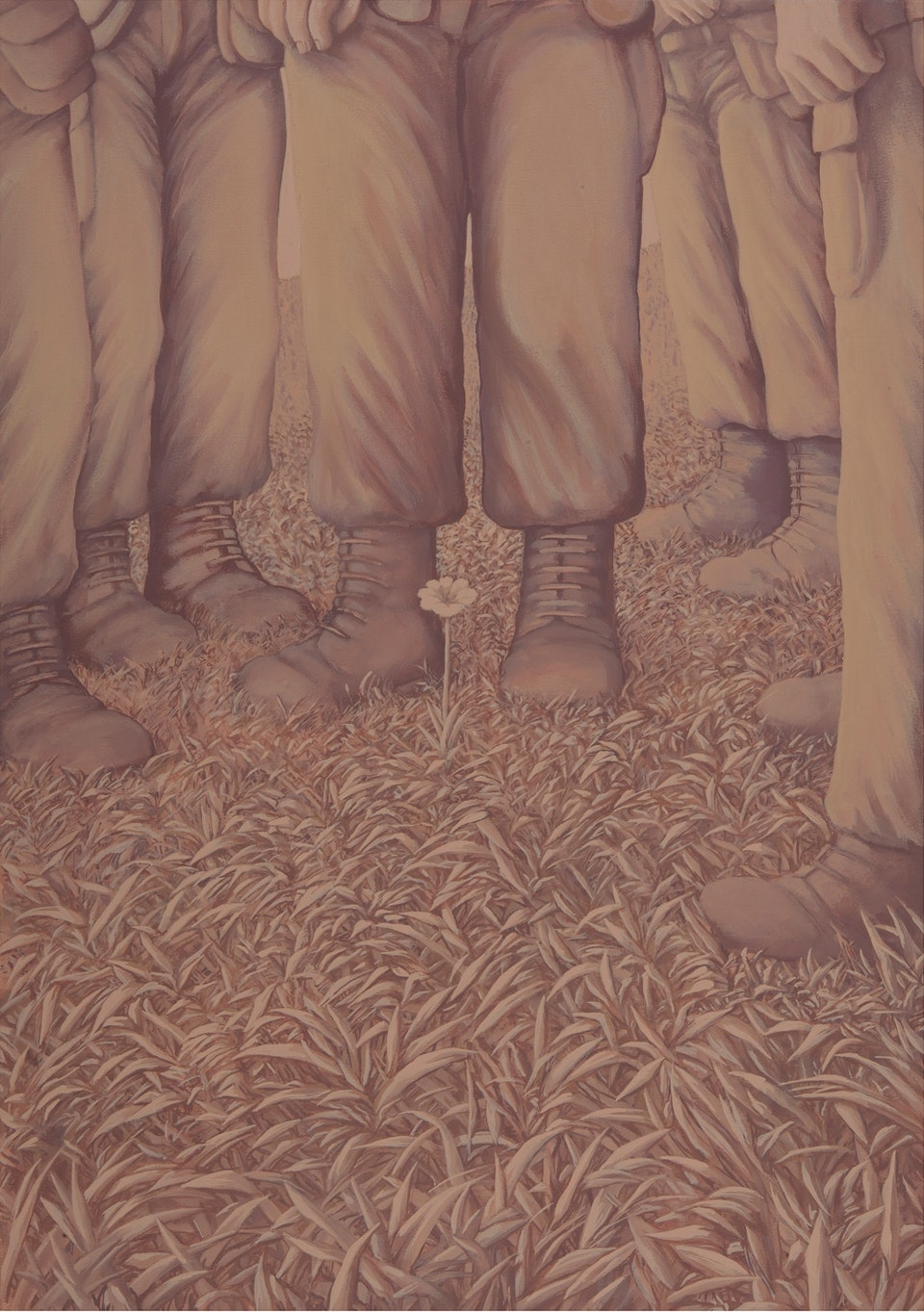 sequences _Why We Will Win - The principal - acrylic on canvas -  polyptych - each  cm. 50x70 - 2011