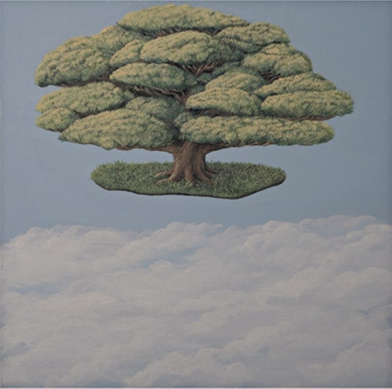 The sky behind the trees_3 - polyptich - Pinus parviflora - acrylic on canvas - cm. 50x50 - 2010