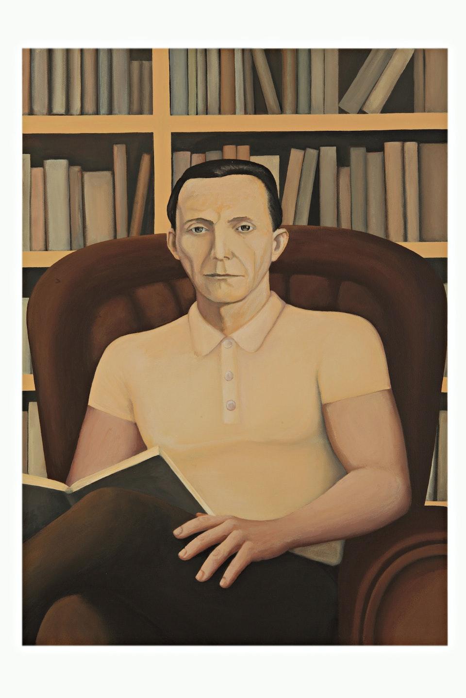 w_Joseph Goebbels imagined in the 21st century - acrylic on canvas - cm. 70x50 - 2010