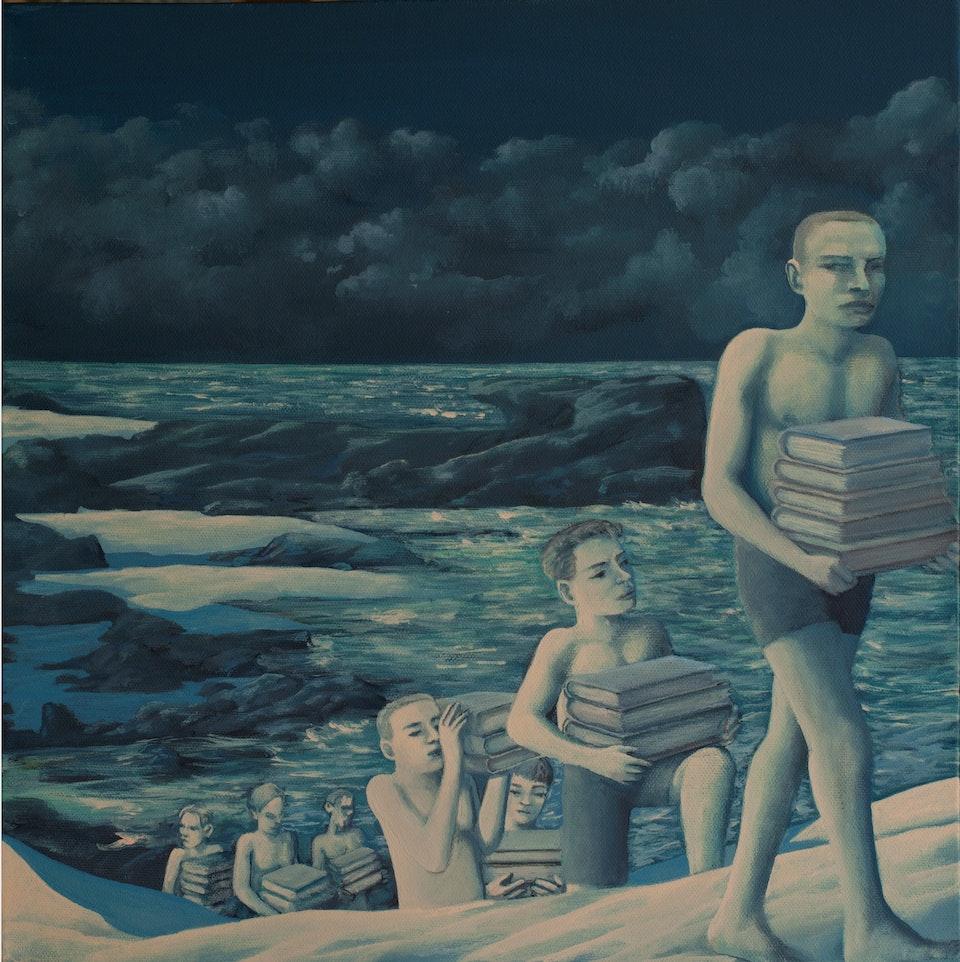 40x40_The Books - acrylic on canvas   cm. 40x40  - 2012