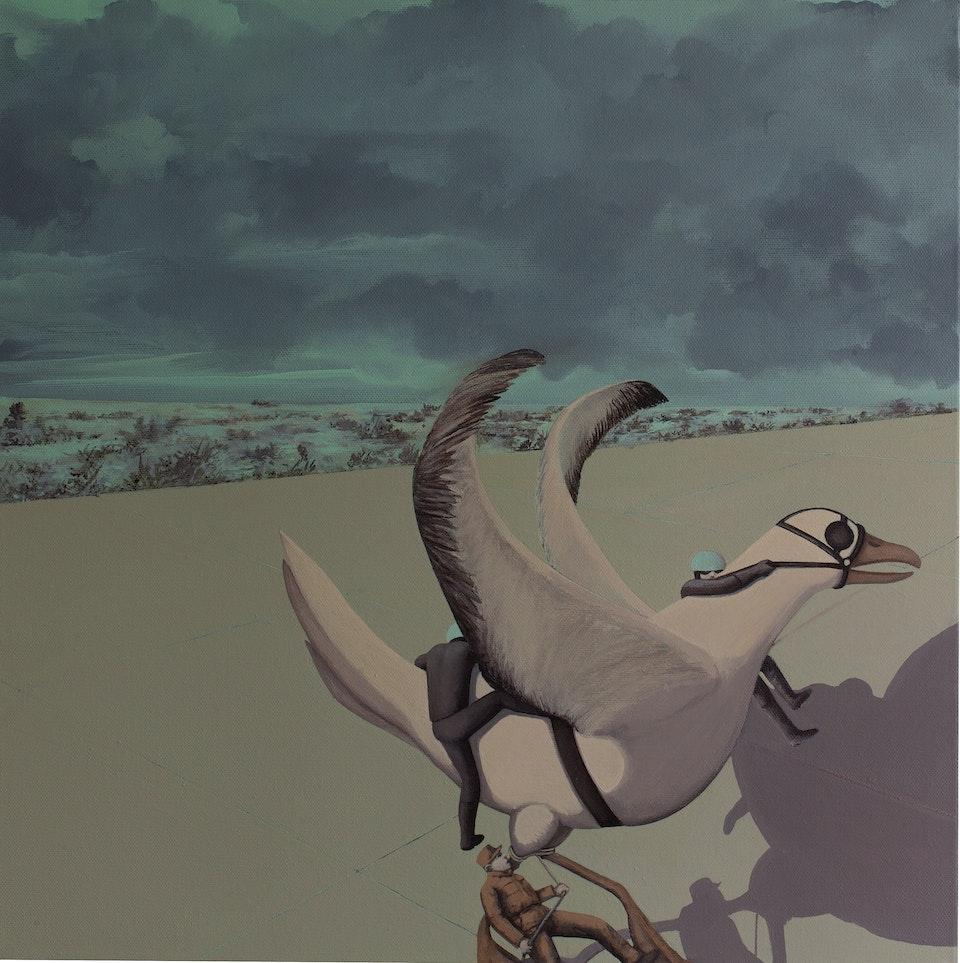 ub1_The unruly bird 5 - acrylic on canvas - cm 50x50 - 2013