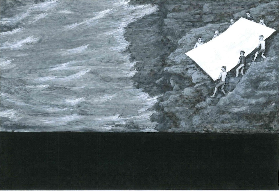 h_Cover_Through the sea - acrylic on paper -cm. 29x19,5 - 2015