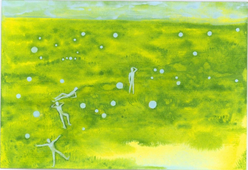 27 h_Tenth day - acrylic on paper - cm. 16x23,5 - 2015