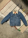 Peach Feast Jacket - Jacket [ 1 of 1 ] Derivative of Picasso's avant garde illustrations hand-painted onto Levi's denim jacket Size M 2018