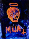 Mija - Painting Acrylic and oil pigment stick on canvas 18 x 24 inches 2018