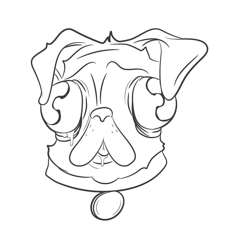 Gross pug - outlines-01 -