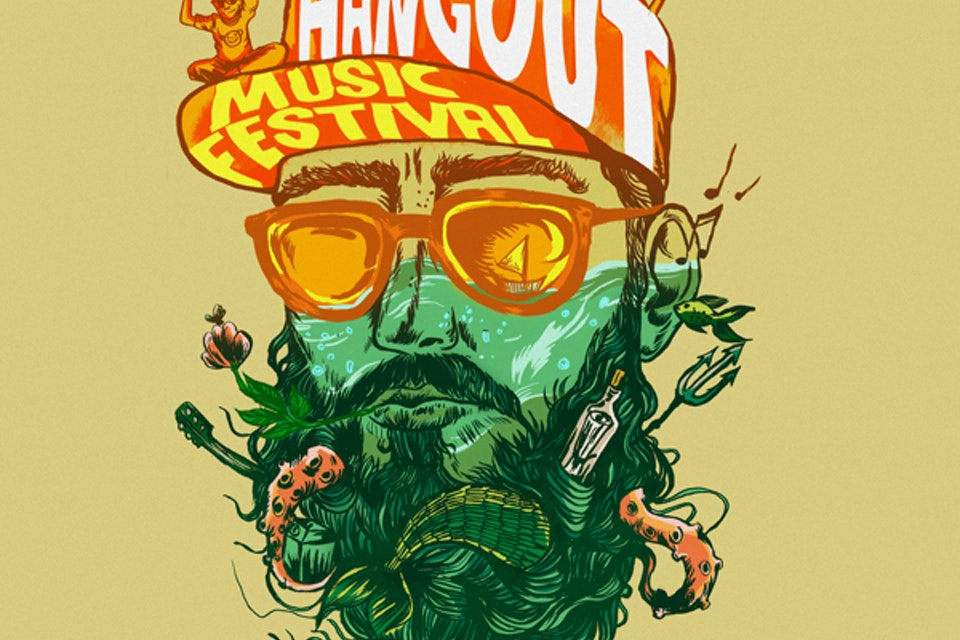 Poster Designs - Poster [ Winning Contest Entry] for Hangout Festival, Gulf Shores, Alabama   - 2014