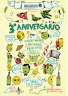Poster Designs - Poster for Dois Corvos Brewery's  3 years anniversary - Lisbon, Portugal - 2018