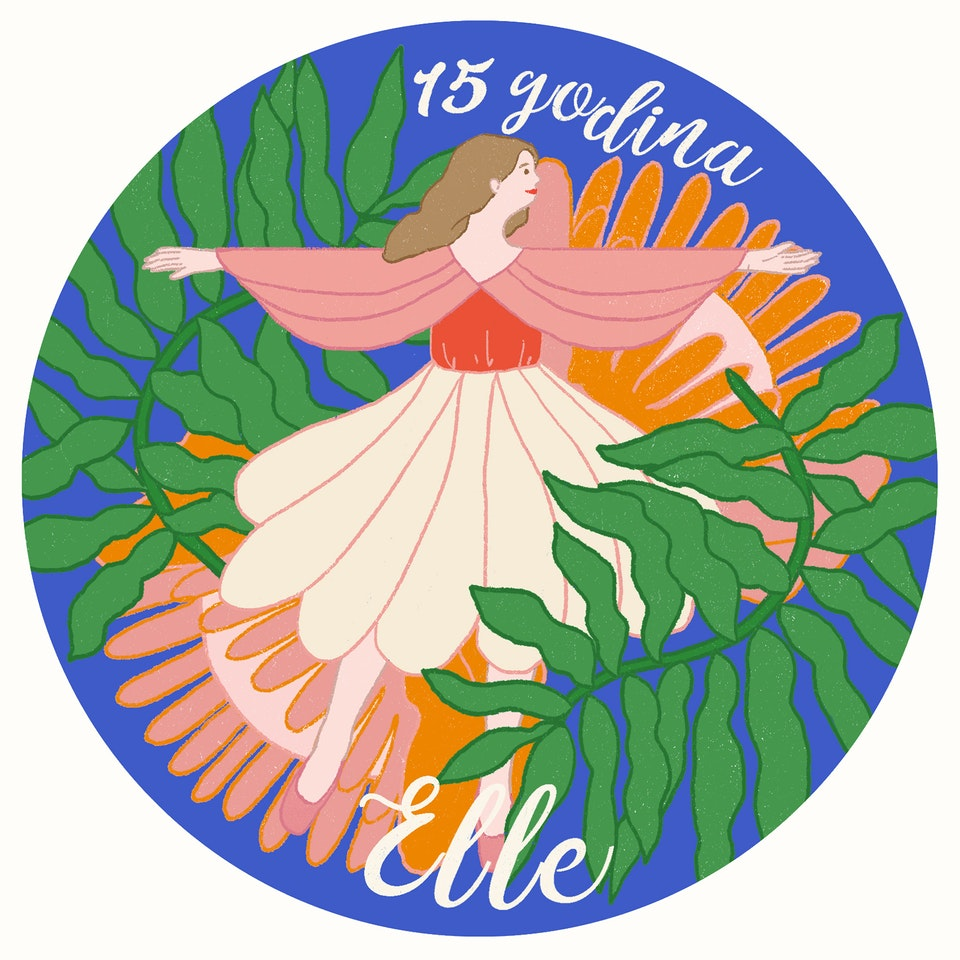 MILICA GOLUBOVIC - Elle Magazine (RS) | Green Issue Art Stamp