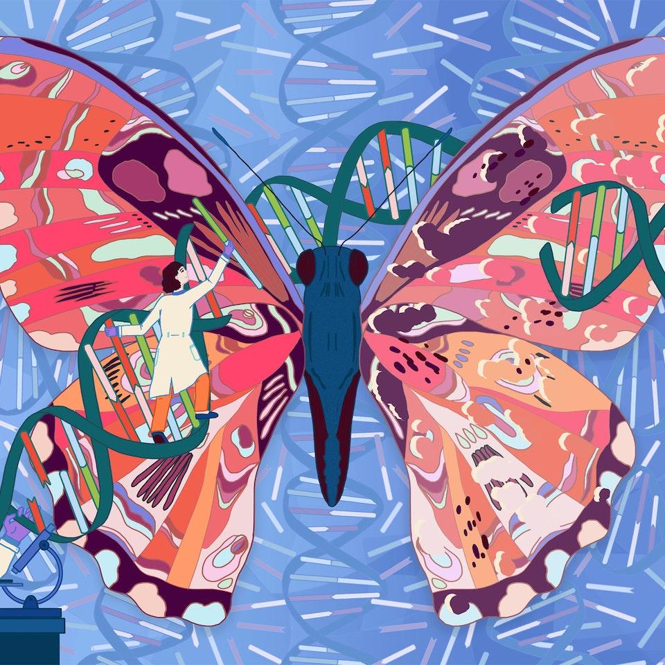 MILICA GOLUBOVIC - Elementi Magazine | Cover illustration & Spread