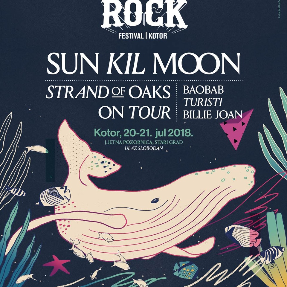 MILICA GOLUBOVIC - SeaRock Festival 2018 (MNE) | Poster illustration