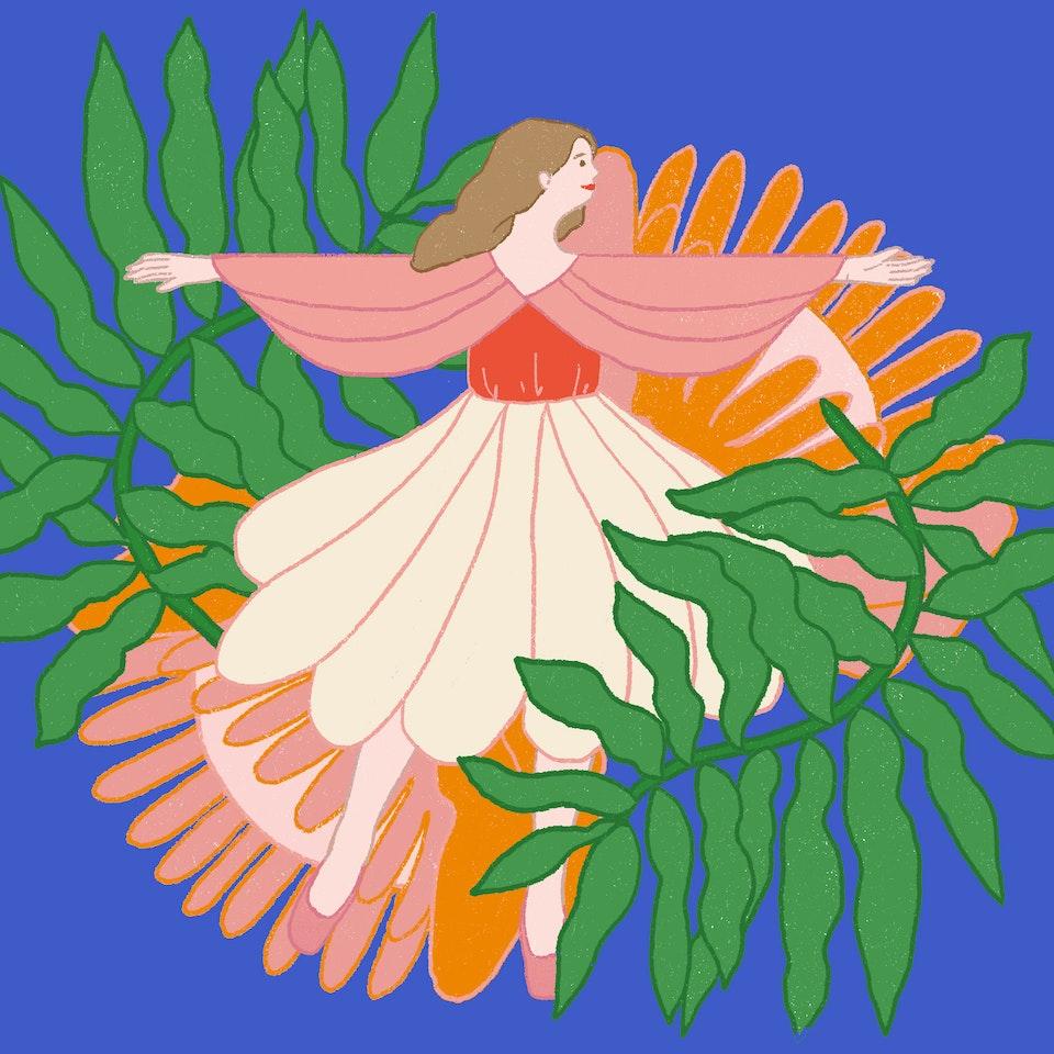 Elle Magazine (RS) Art Stamp Milica Golubovic Elle stamp illo web