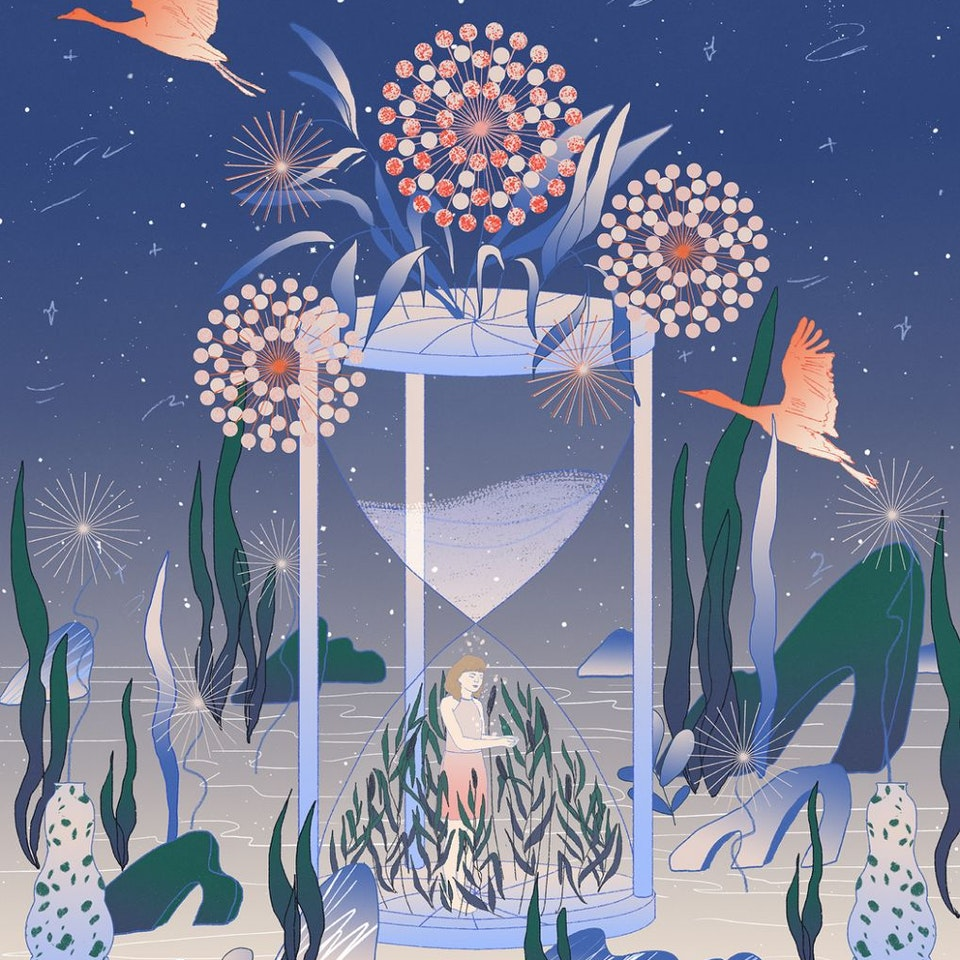 Milica Golubovic - Moonlight Blossom | Personal illustration