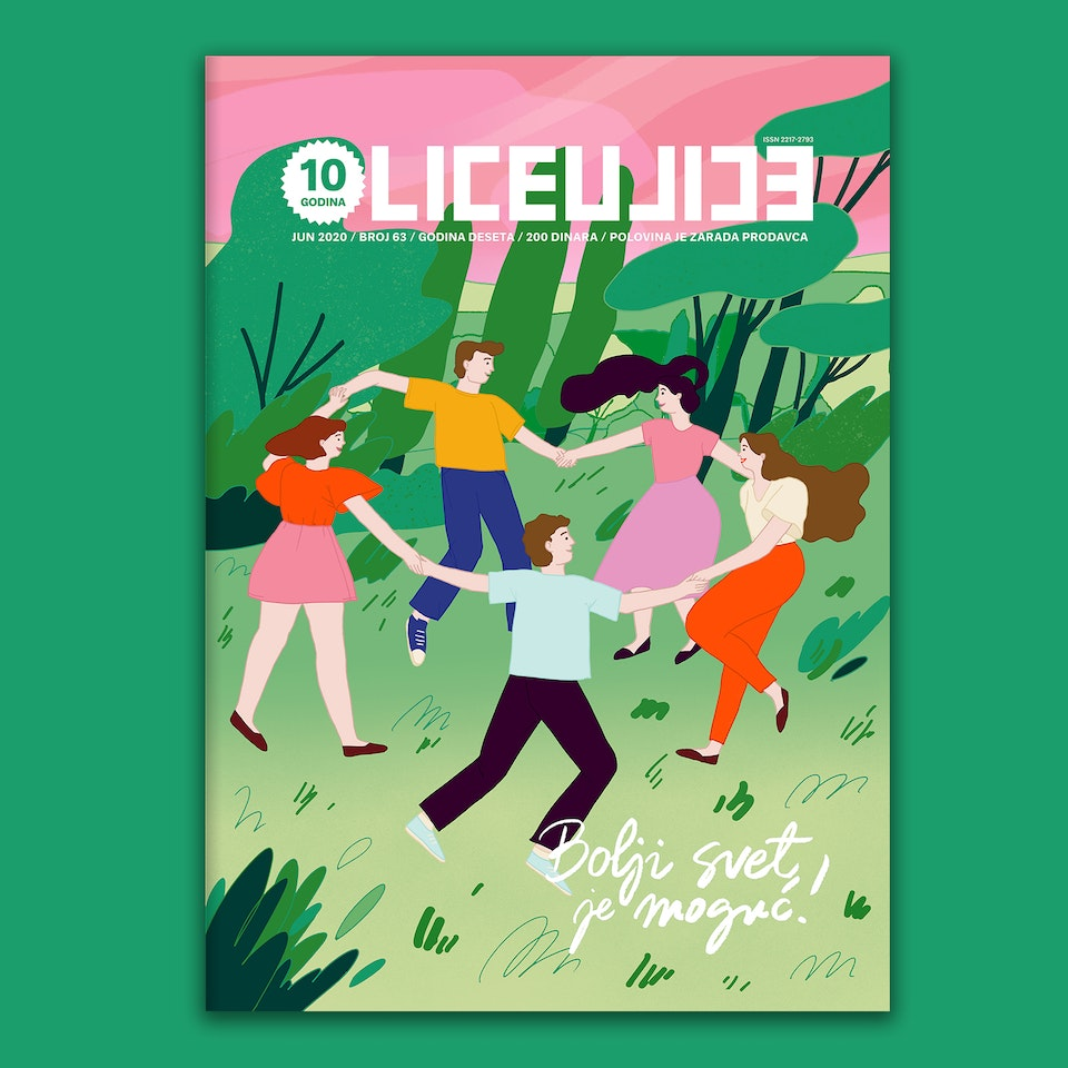 MILICA GOLUBOVIC - Lice Ulice Magazine (RS) | Cover illustration